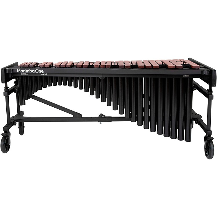 Marimba One Wave #9631 A442 4.3 Octave Marimba with Traditional Keyboard and Classic Resonators 4.3 Octave Field Frame