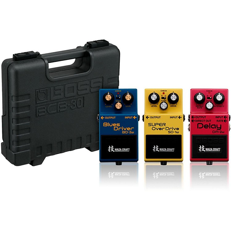 BossWaza Craft (Delay, Overdrive, Blues) Collection with Free BCB30 Pedal Board