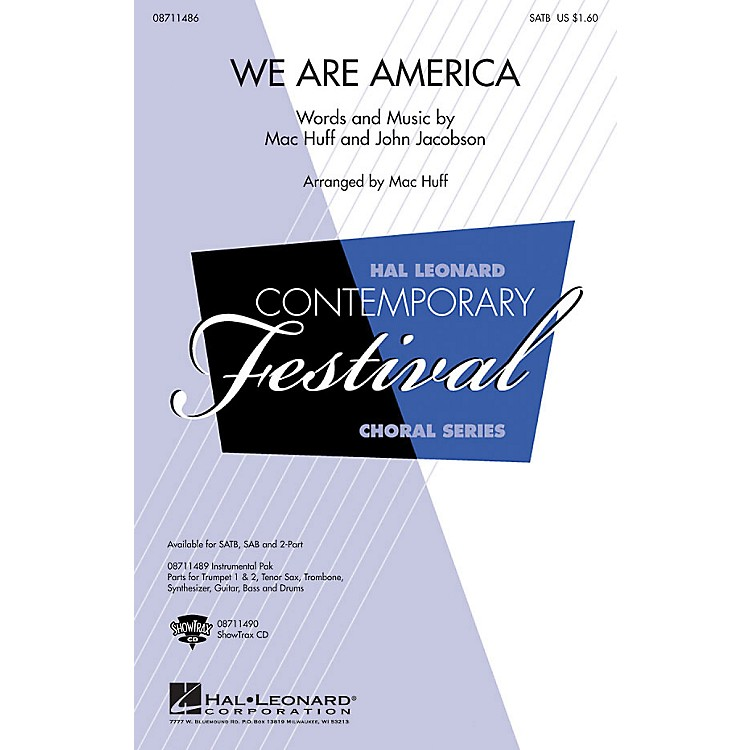 Hal Leonard We Are America ShowTrax CD Arranged by Mac Huff