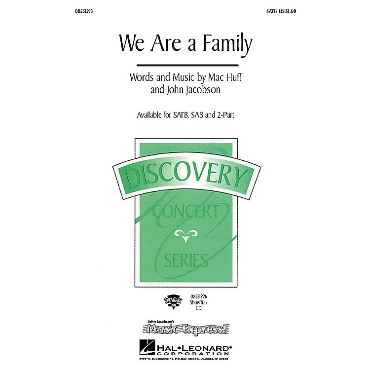 Hal LeonardWe Are a Family ShowTrax CD Composed by John Jacobson