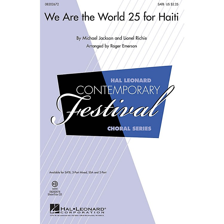 Hal Leonard We Are the World 25 for Haiti SSA Arranged by Roger Emerson