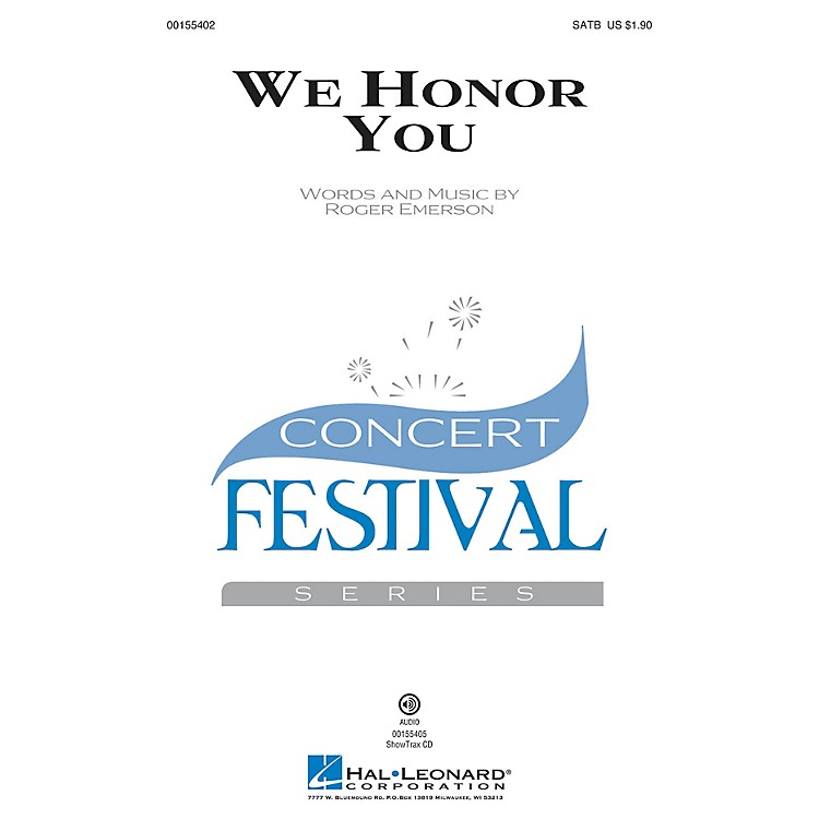 Hal LeonardWe Honor You SATB composed by Roger Emerson