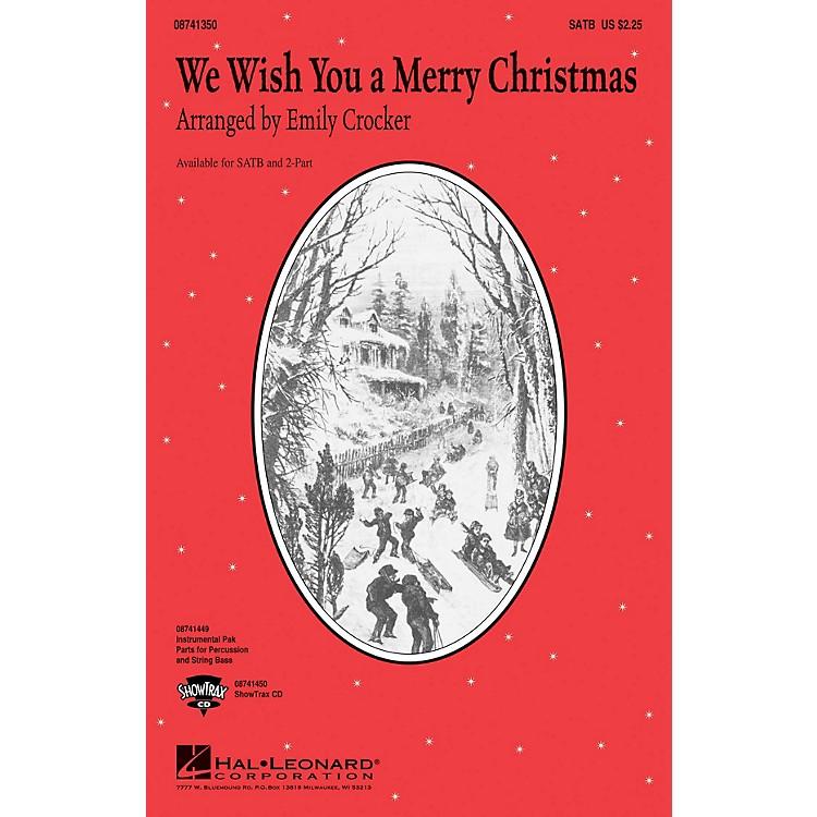Hal LeonardWe Wish You a Merry Christmas ShowTrax CD Arranged by Emily Crocker