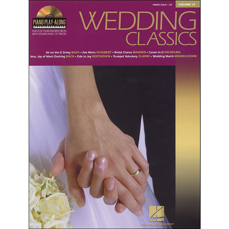 Hal Leonard Wedding Classics Book/CD Volume 10 Piano Play Along arranged for piano, vocal, and guitar (P/V/G)