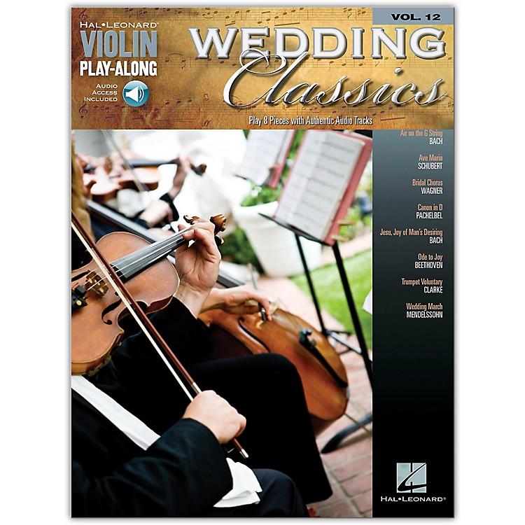 Hal LeonardWedding Classics Violin Play-Along Volume 12 Book/Online Audio