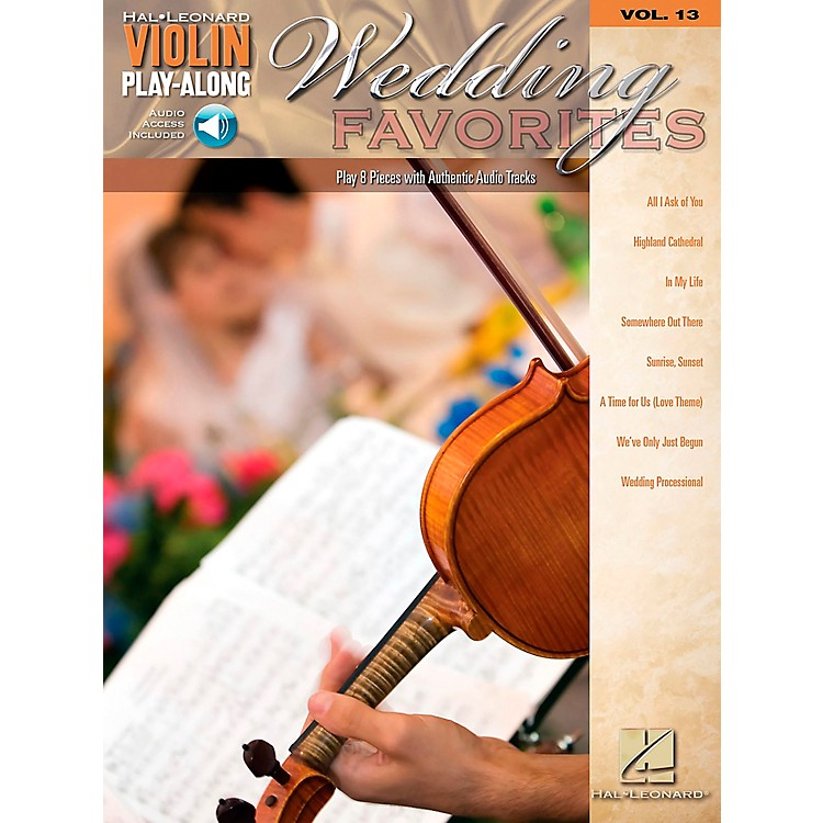 Hal LeonardWedding Favorites - Violin Play-Along Volume 13 Book/CD