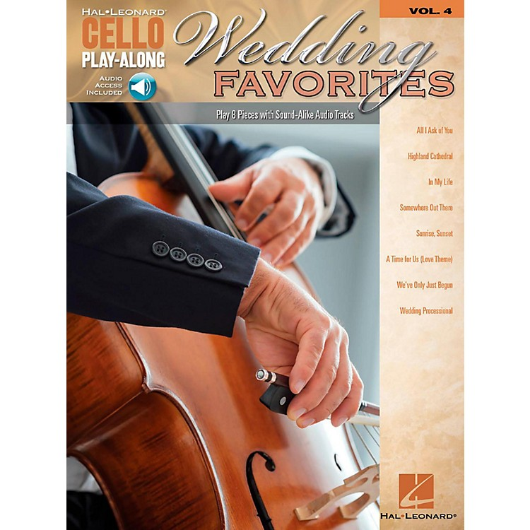 Hal LeonardWedding Favorites Cello Play-Along Volume 4 Book/Audio Online