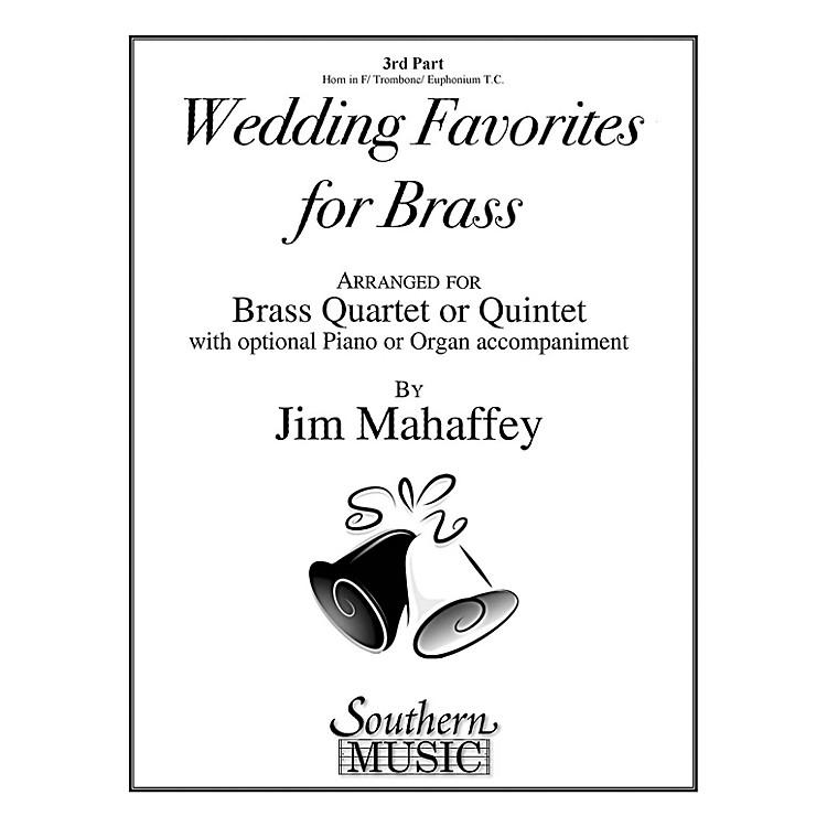 SouthernWedding Favorites for Brass (Part 3 - Horn/Trombone/Euphonium) Southern Music Series by Jim Mahaffey
