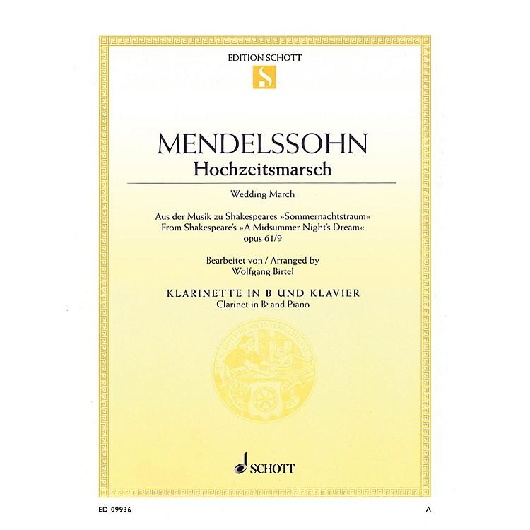 SchottWedding March, Op. 61, No. 9 Woodwind Series Softcover