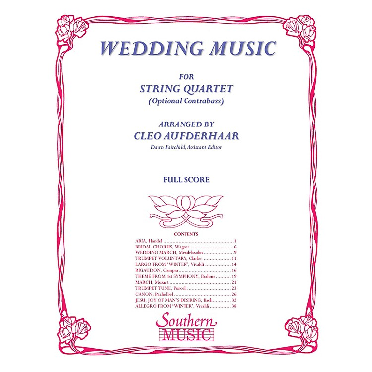 SouthernWedding Music (Conductor Score) Southern Music Series Arranged by Cleo Aufderhaar