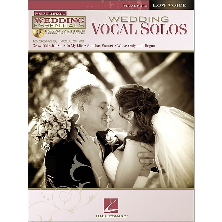 Hal Leonard Wedding Vocal Solos - Wedding Essentials Series for Low Voice Book/CD