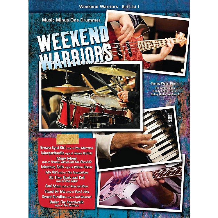 Music Minus OneWeekend Warriors - Set List 1, Drums Music Minus One Series Softcover with CD Performed by Various