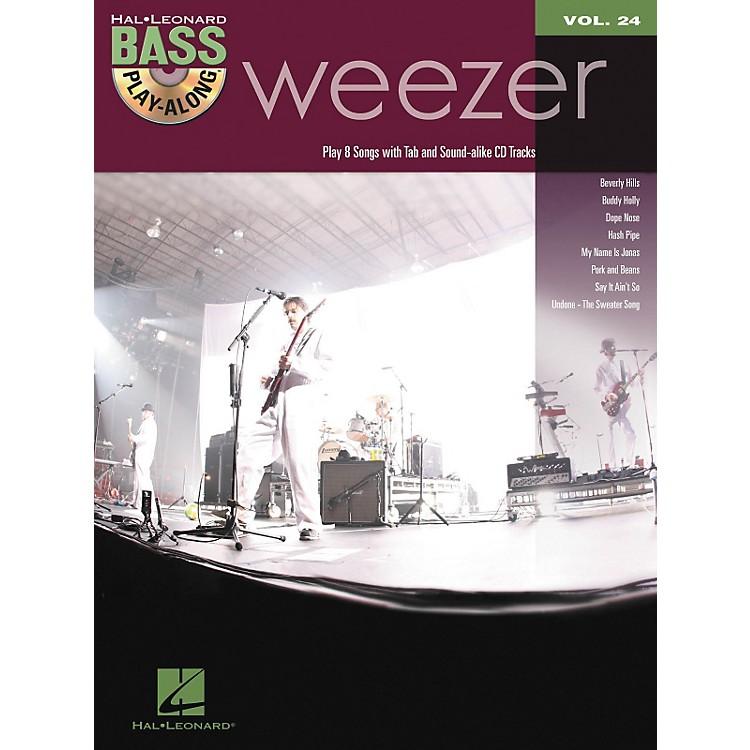 Hal LeonardWeezer - Bass Play-Along Volume 24 Book/CD