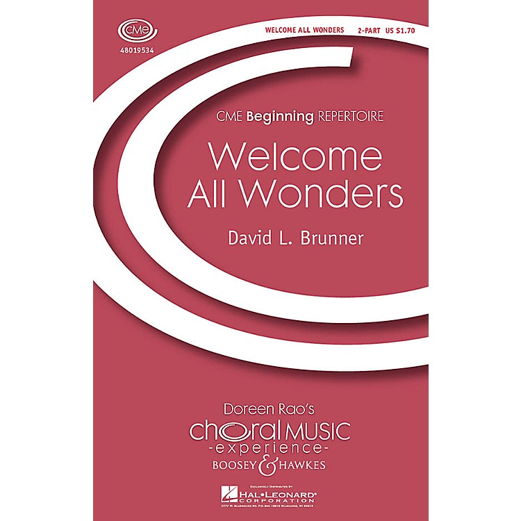 Boosey and HawkesWelcome All Wonders (CME Beginning) 2-Part composed by David Brunner