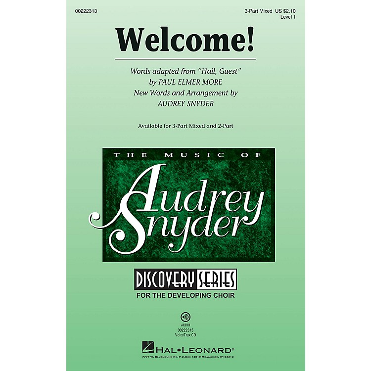 Hal LeonardWelcome! (Discovery Level 1) 3-Part Mixed arranged by Audrey Snyder