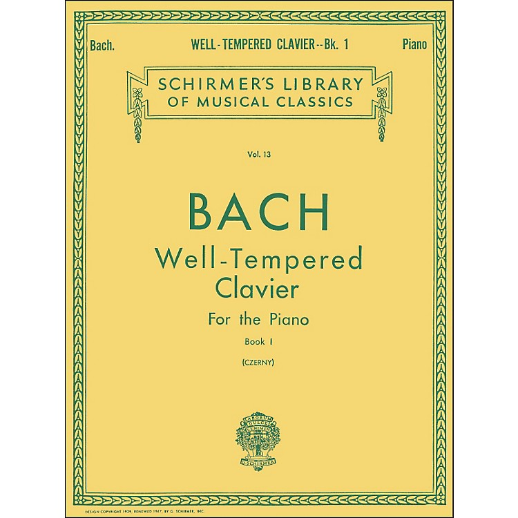 G. SchirmerWell Tempered Clavier Book 1 Piano By Bach