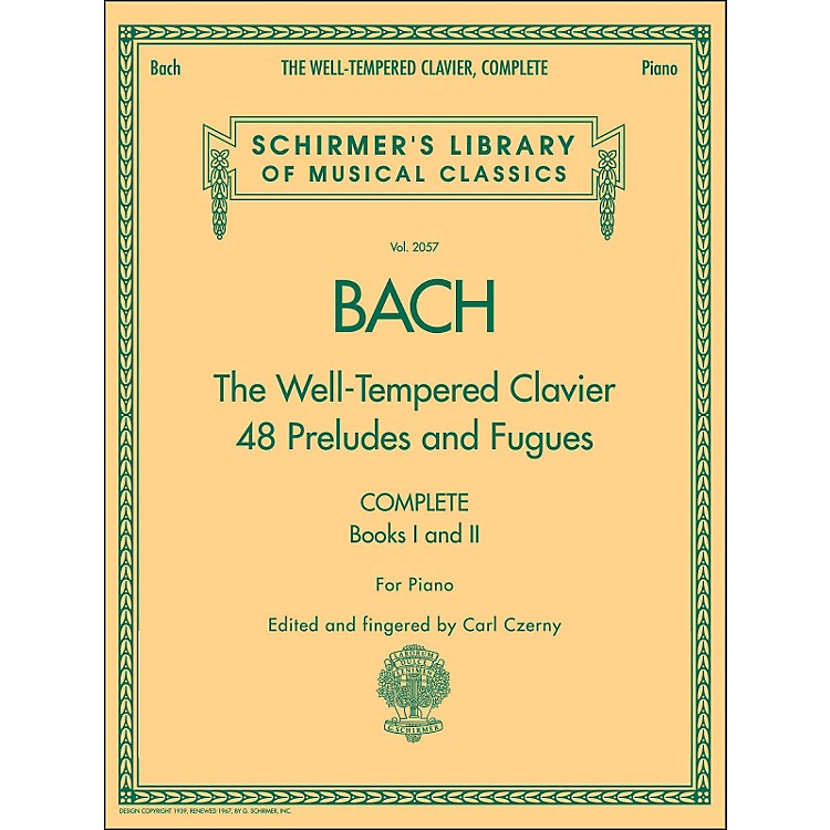 G. SchirmerWell-Tempered Clavier Complete Books 1 & 2 for Piano By Bach