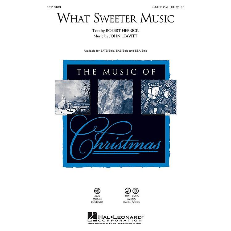 Hal LeonardWhat Sweeter Music SOP. I/II / ALTO / SOLO Composed by John Leavitt