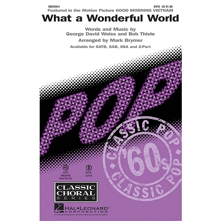 Hal Leonard What a Wonderful World ShowTrax CD by Louis Armstrong Arranged by Mark Brymer