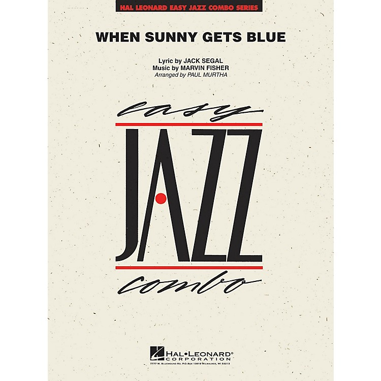Hal Leonard When Sunny Gets Blue Jazz Band Level 2 Arranged by Paul Murtha