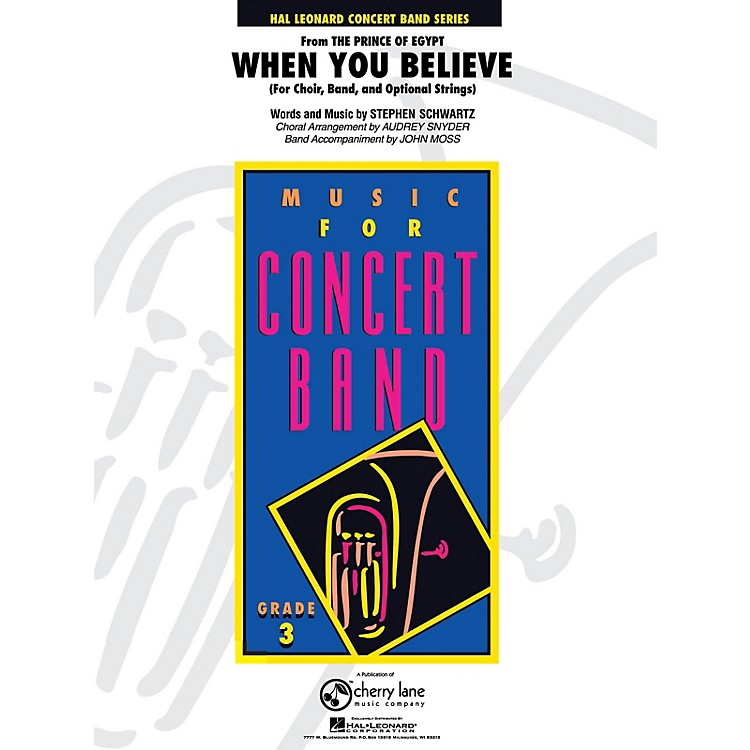 Cherry LaneWhen You Believe (from The Prince of Egypt) - Young Concert Band Series Level 3 arranged by