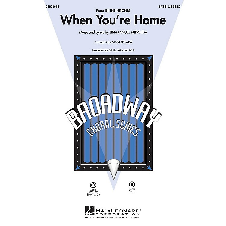 Hal LeonardWhen You're Home ShowTrax CD Arranged by Mark Brymer
