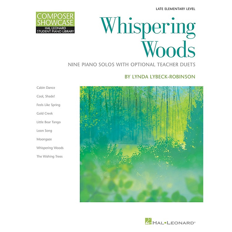 Hal Leonard Whispering Woods - 9 Piano Solos with Optional Teacher Duets Late Elementary Level
