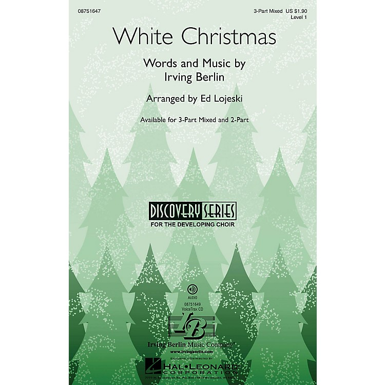 Hal LeonardWhite Christmas (Discovery Level 1) 2-Part Arranged by Ed Lojeski