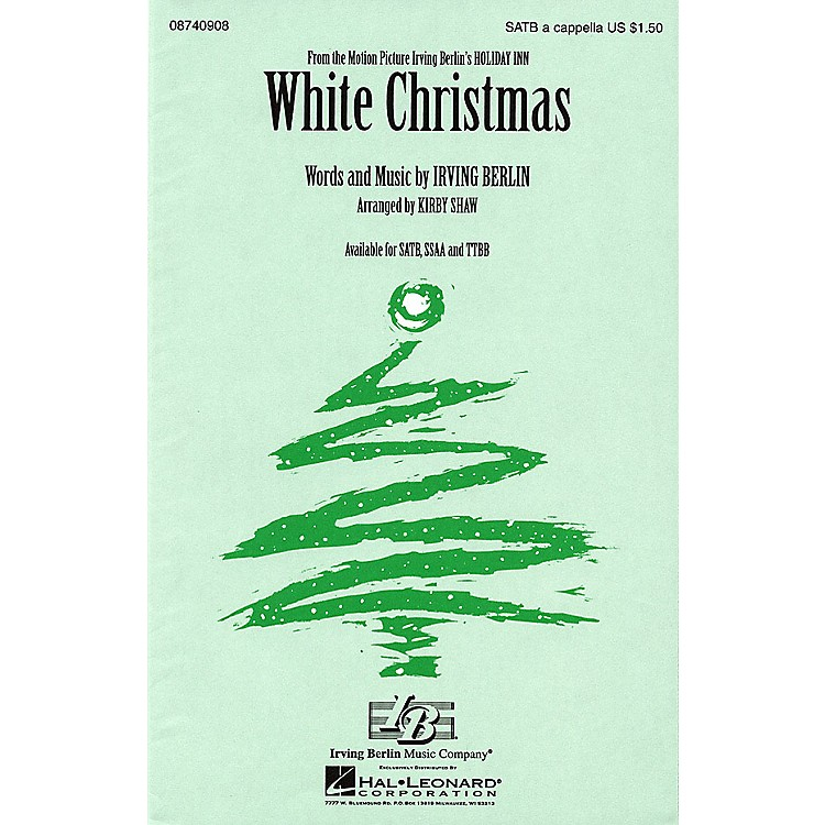 Hal LeonardWhite Christmas SSAA A Cappella Arranged by Kirby Shaw