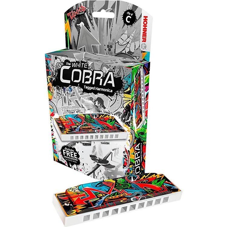 HohnerWhite Cobra Tagged HarmonicaKey of A