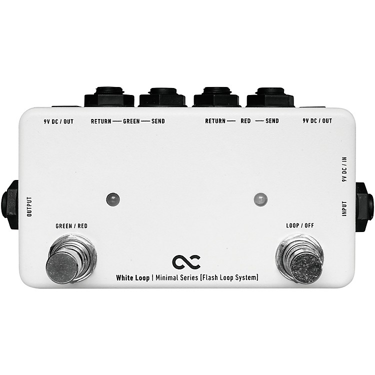 One ControlWhite Loop Flash 2-Channel Switcher Pedal