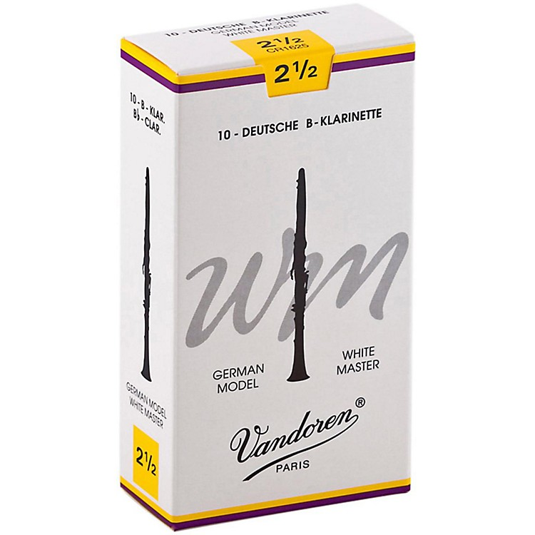 Vandoren White Master Bb Clarinet Reeds Strength 3, Box of 10