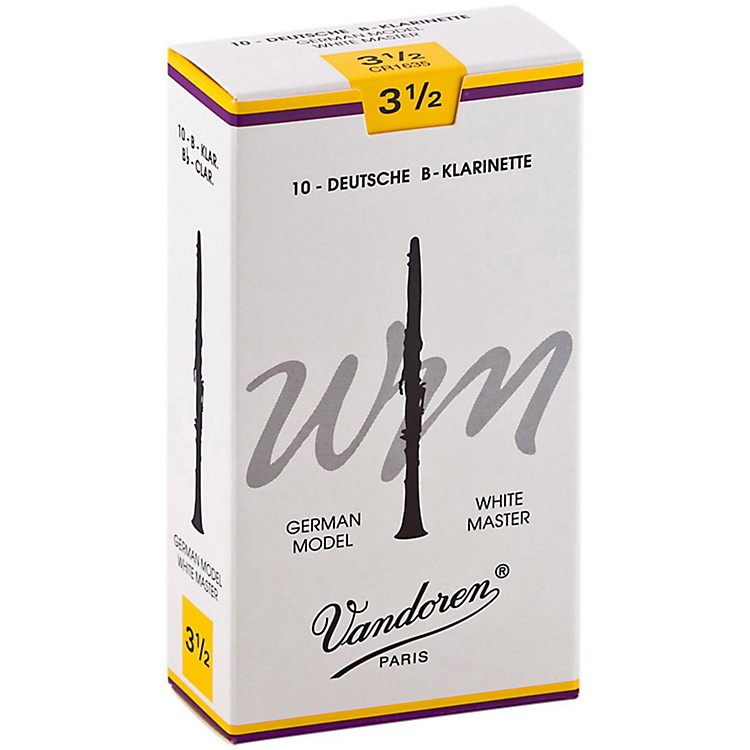 Vandoren White Master Bb Clarinet Reeds Strength 3.5, Box of 10