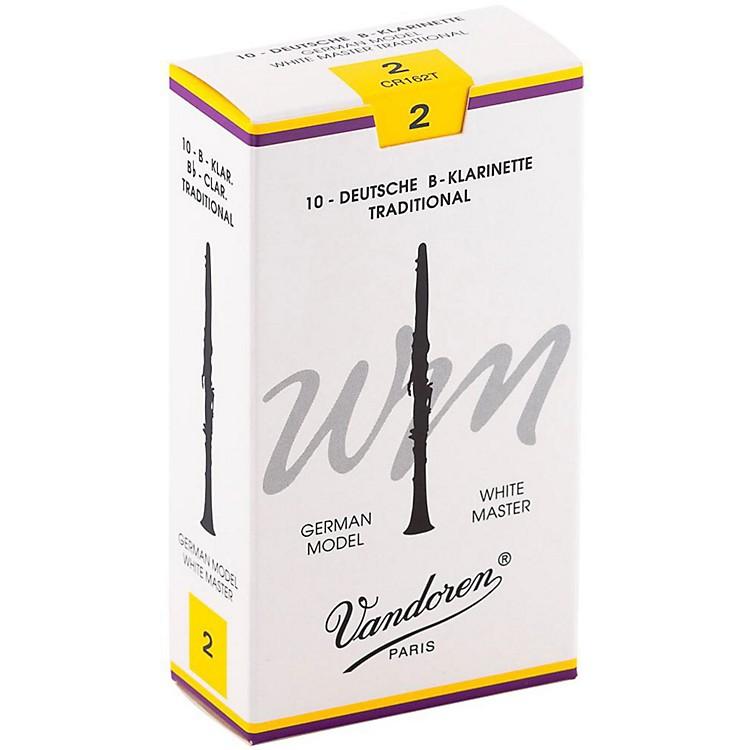 VandorenWhite Master Traditional Bb Clarinet ReedsBox of 10, Strength 2