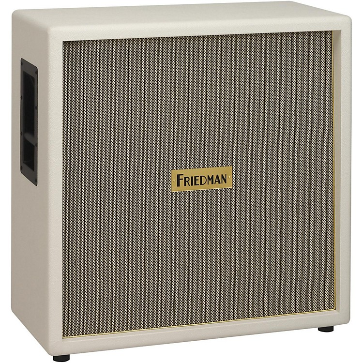 Friedman White Tolex Vintage 4x12 Guitar Speaker Cab White Tolex