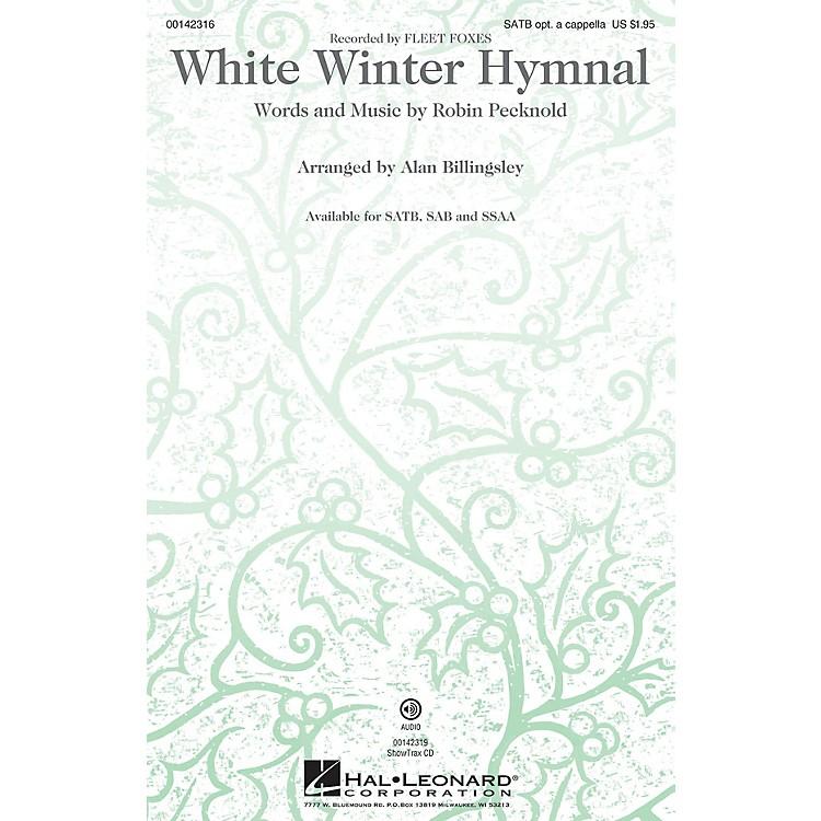 Hal LeonardWhite Winter Hymnal SSAA by Fleet Foxes Arranged by Alan Billingsley