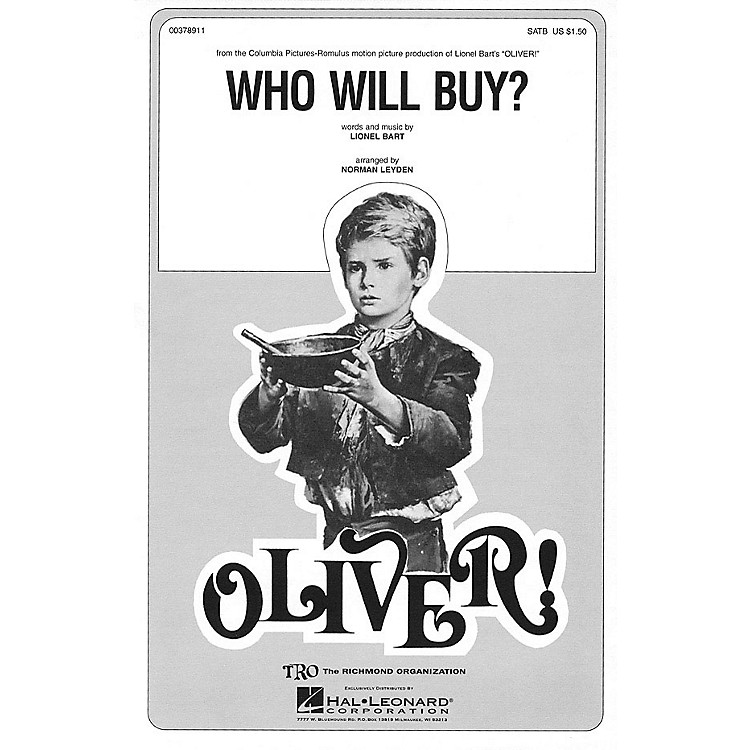 TRO ESSEX Music GroupWho Will Buy? (from Oliver) SSA Arranged by Norman Leyden
