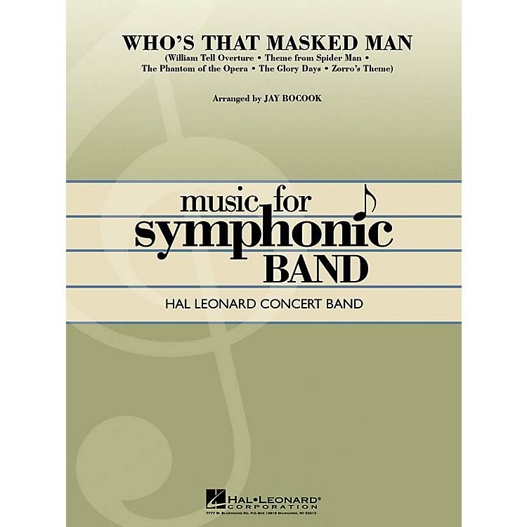 Hal LeonardWho's That Masked Man? Concert Band Level 3 Arranged by Jay Bocook