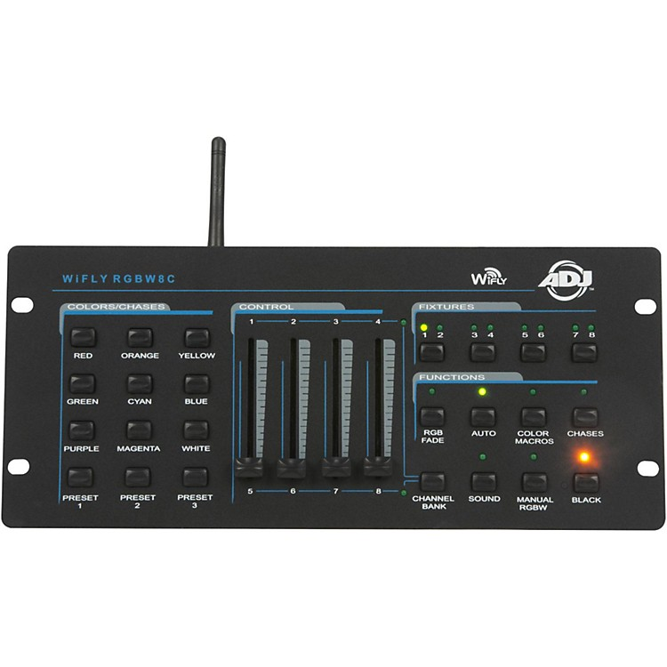 American DJWiFly RGBW8C Wireless 4 Channel Color Mixing Controller888365655031