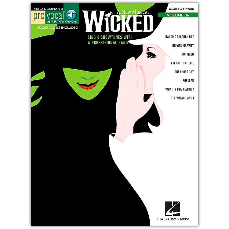 Hal LeonardWicked - Pro Vocal Songbook for Female Singers, Volume 36 (Book/Online Audio)
