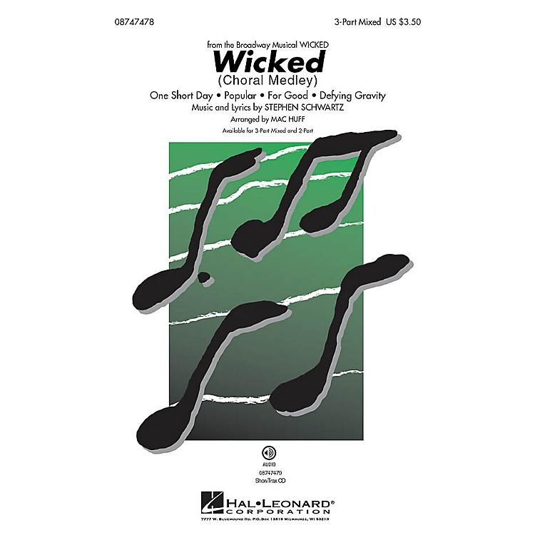 Hal Leonard Wicked (Choral medley) 2-Part Arranged by Mac Huff