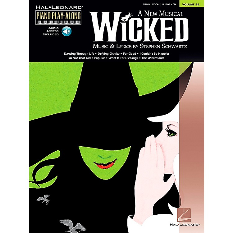 Hal LeonardWicked Piano Play-Along Vol 46 Book/CD arranged for piano, vocal, and guitar (P/V/G)