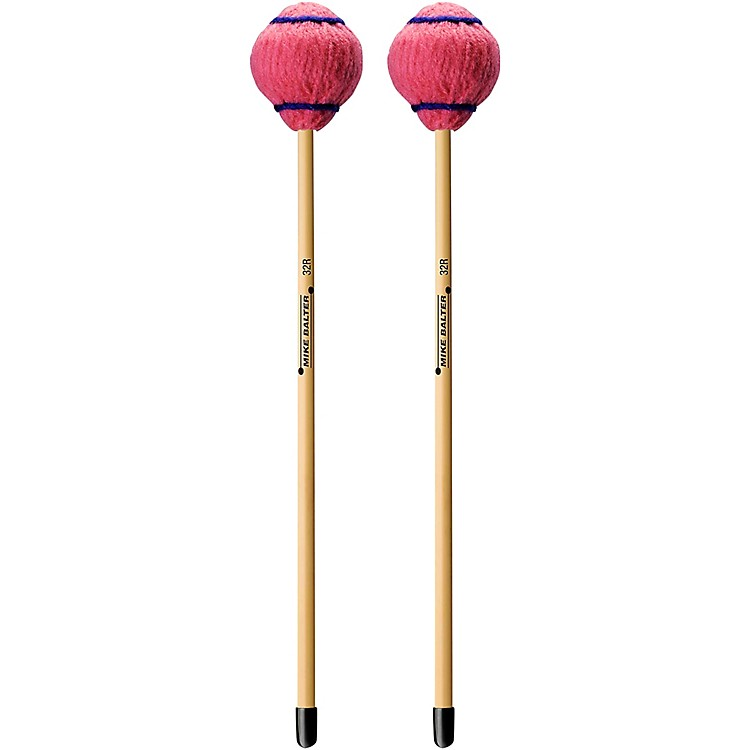 Mike Balter Wide Bar Series Medium Pink Yarn Rattan Handle Vibraphone Mallets