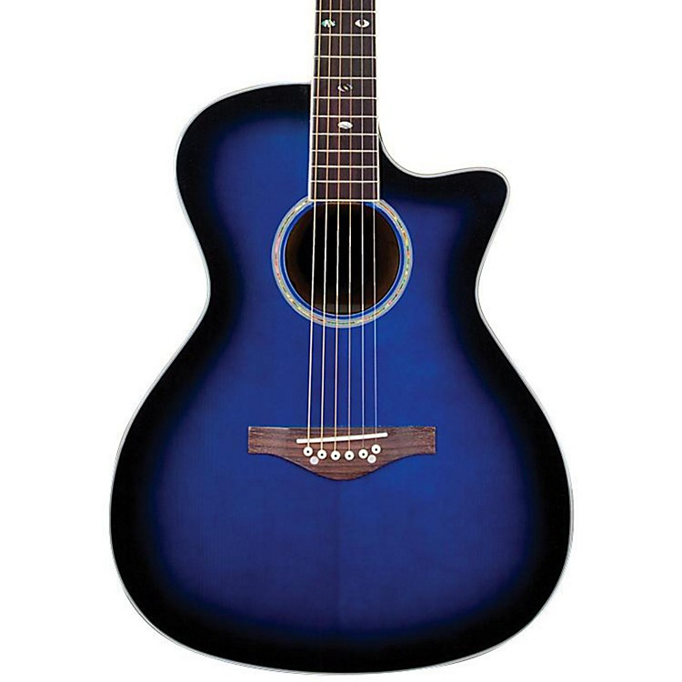 Daisy Rock Wildwood Artist Spruce Top Cutaway Acoustic-Electric Guitar Royal Blue Burst