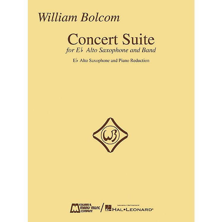 Edward B. Marks Music CompanyWilliam Bolcom - Concert Suite Woodwind Solo Series  by William Bolcom