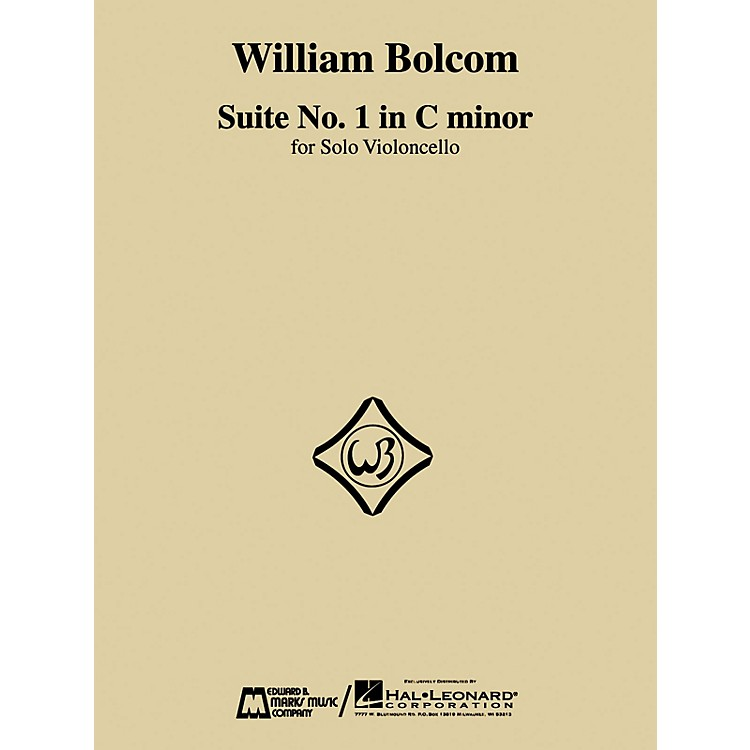 Edward B. Marks Music CompanyWilliam Bolcom - Suite No. 1 in C Minor (for Solo Violoncello) E.B. Marks Series by William Bolcom