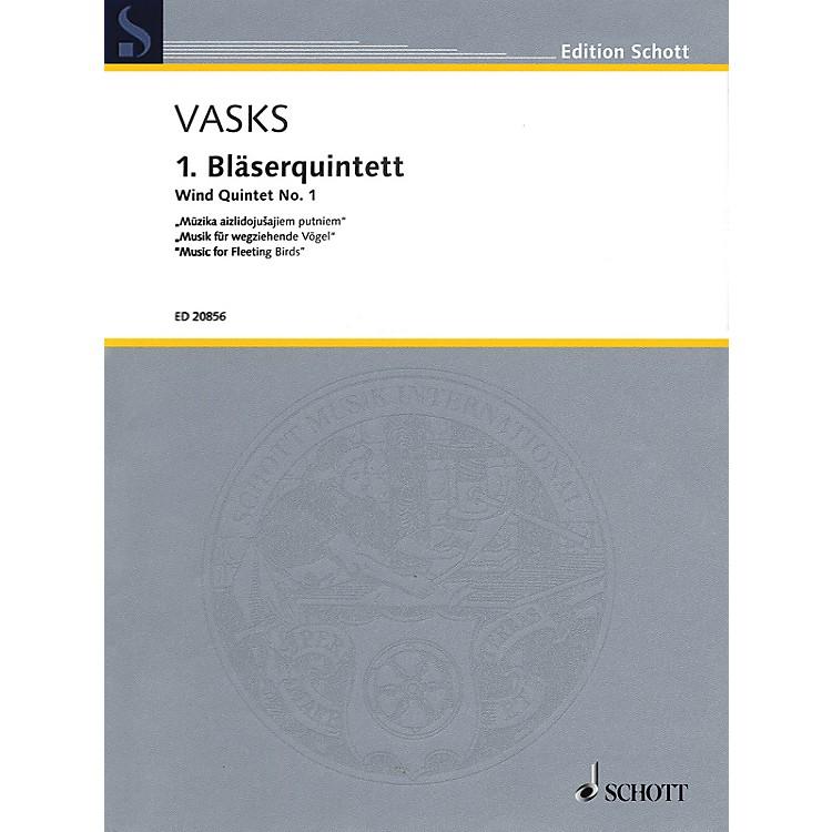 SchottWind Quintet No. 1 Woodwind Ensemble Series Softcover  by Peteris Vasks