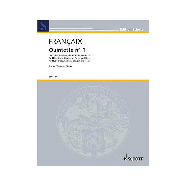 SchottWind Quintet (Set of Parts) Schott Series by Jean Françaix