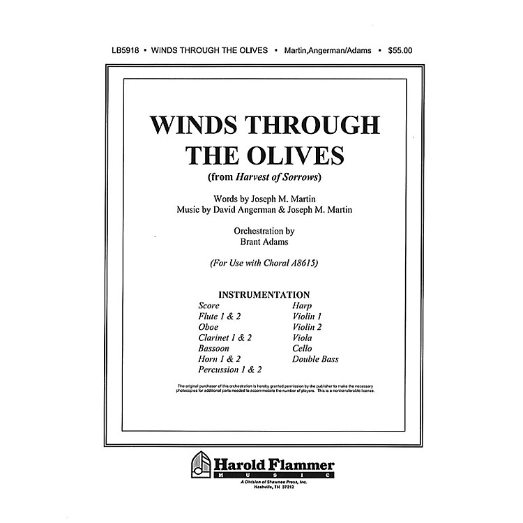 Shawnee PressWinds Through the Olives (from Harvest of Sorrows) Score & Parts composed by Joseph M. Martin