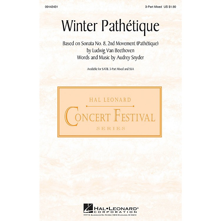 Hal LeonardWinter Pathétique 3-Part Mixed composed by Audrey Snyder